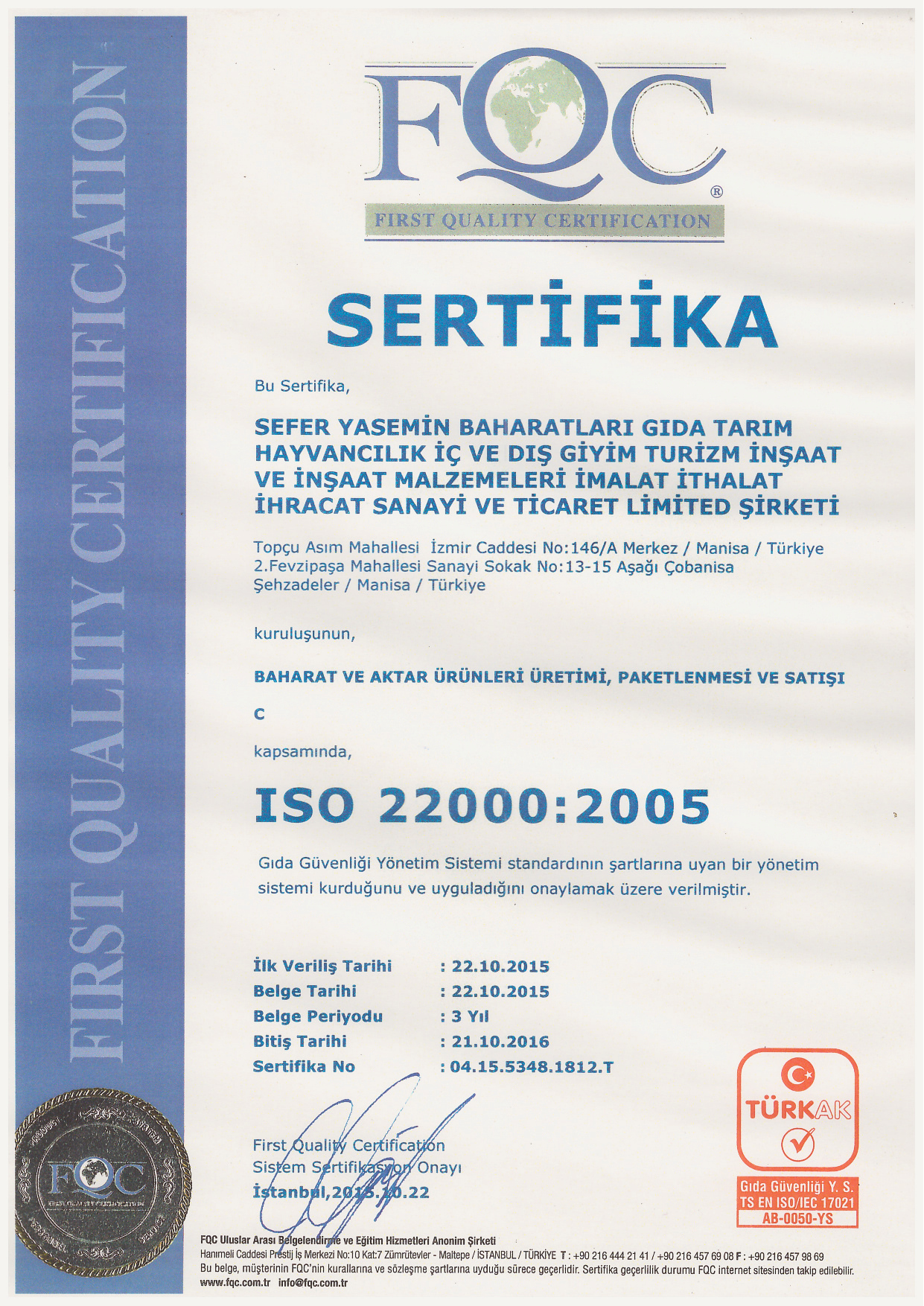 ISO 22000 2005